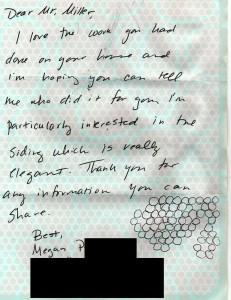 Letter from Megan