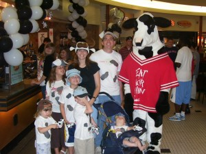 Meeting the Chick-Fil-A cow